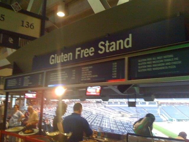 Gluten free stand at Nats Stadium