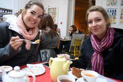 Julie-enjoying-gluten-free-tea