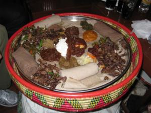 Injera dinner