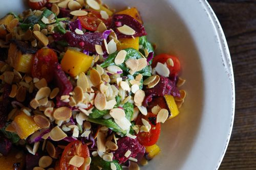Red Heat salad with beets
