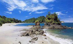 Costa Rica beach with rocks