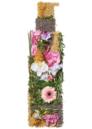 Arbonne Bottle made from flowers
