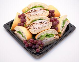 Bagelino turkey sandwich platter