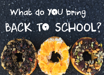 Back to School Sweet Note Bagels