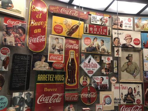 World of Coke museum display