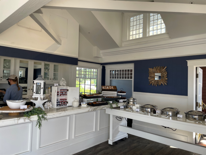Breakfast buffet at Windsor Cottage