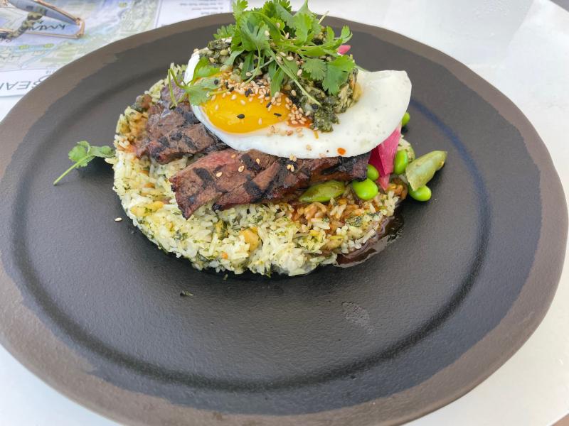 Steak and egg Sun Deck restaurant